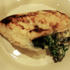 Chicken Breasts With Stuffed Spinach and Goat Cheese