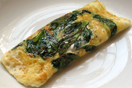 skinny egg white and spinach omelet | Miracle Skinny Drops